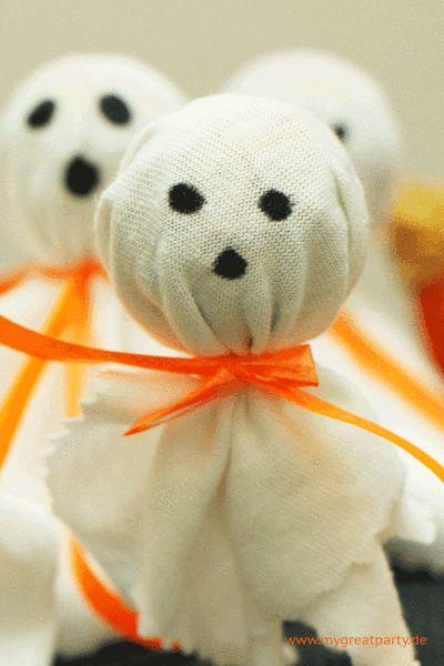 Halloween Mitgebsel - kleines Gespenst Lolli