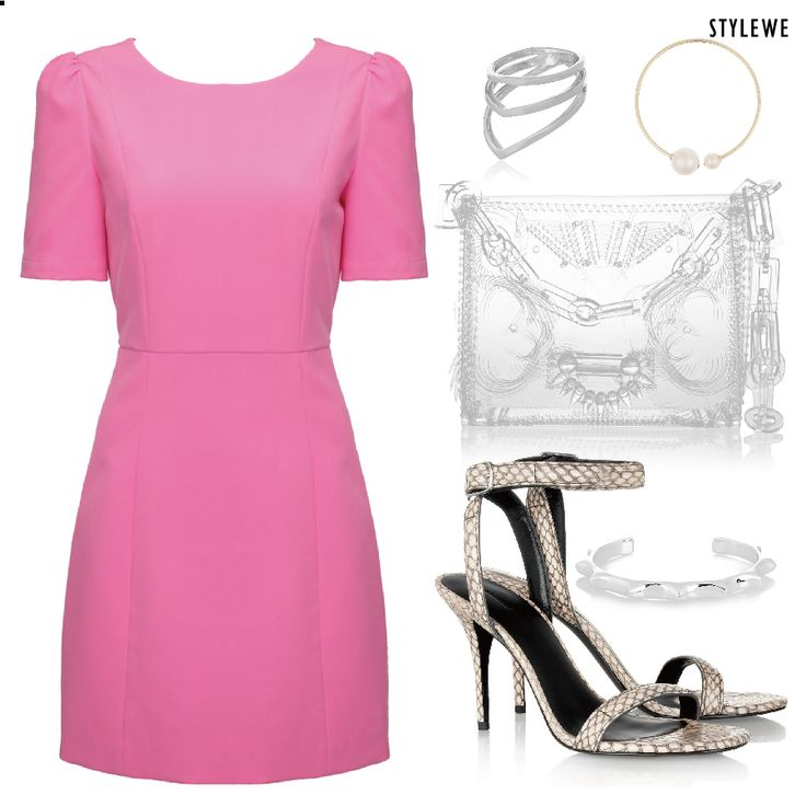 Symmetric wrap effect Twill Mini #dress