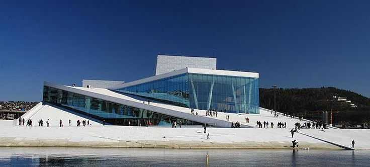 Oslo Opera House where it's cool to walk on the roof