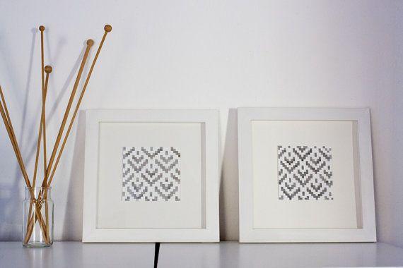 coppia disegni acquerello per decorare la casa  di LeBlusine