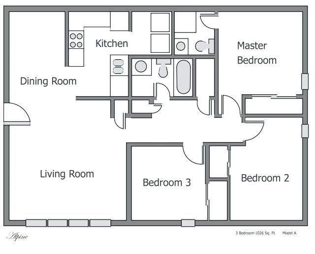 Three Bedroom Flat Plan 3 Bedroom Apartment Floor Plans Awesome Plan Of Flat Unusual Des Apartment Floor Plans Small Apartment Floor Plans Bungalow Floor Plans