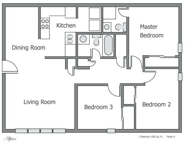 Plan 3 Bedroom Apartment Floor Plans