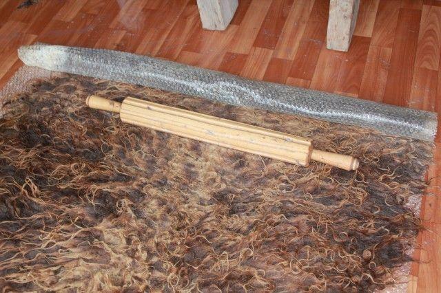 МК по валянию ковра из флиса - Ярмарка Мастеров - ручная работа, handmade
