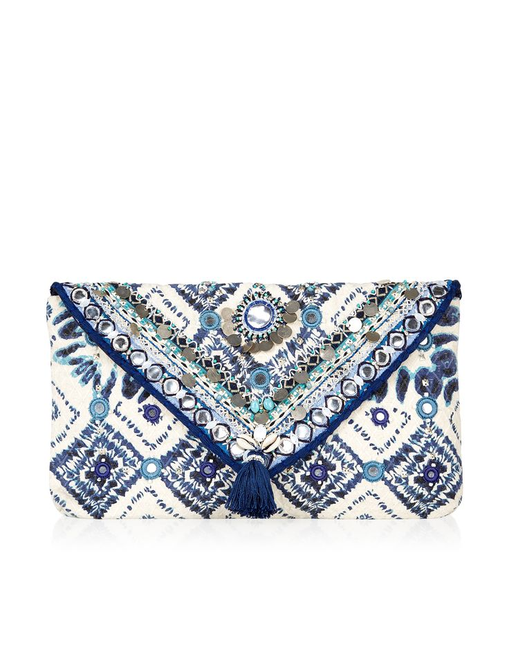 Tie Dye Embellished Clutch | Multi | Accessorize