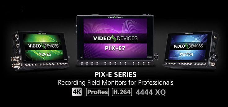 """Nuova serie Video Devices PIX-E monitor/ recorder da 5 """"e 7"""" 4k DCI Pro Res e H.264"""