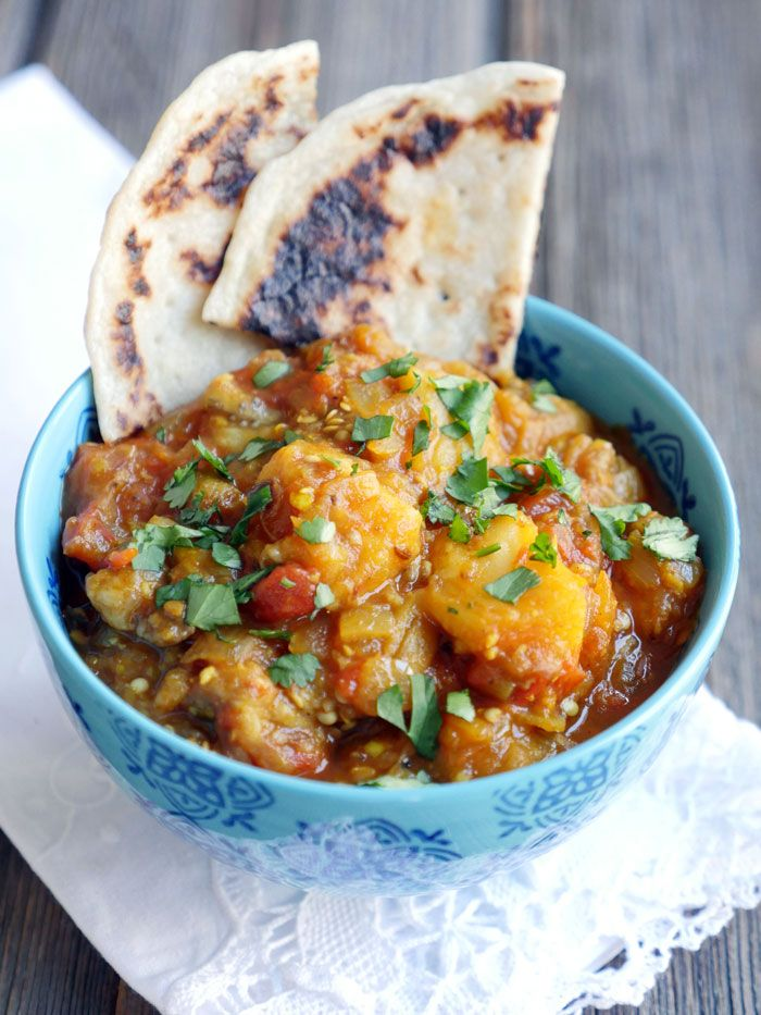 Baingan ka Bharta (Indian Eggplant Dish) by Ashley of myheartbeets.com
