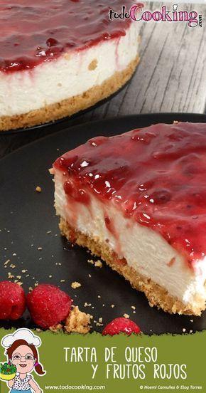 Receta fácil y rápida sin horno de la clásica tarta de queso y frutos rojos. #receta #tarta #queso