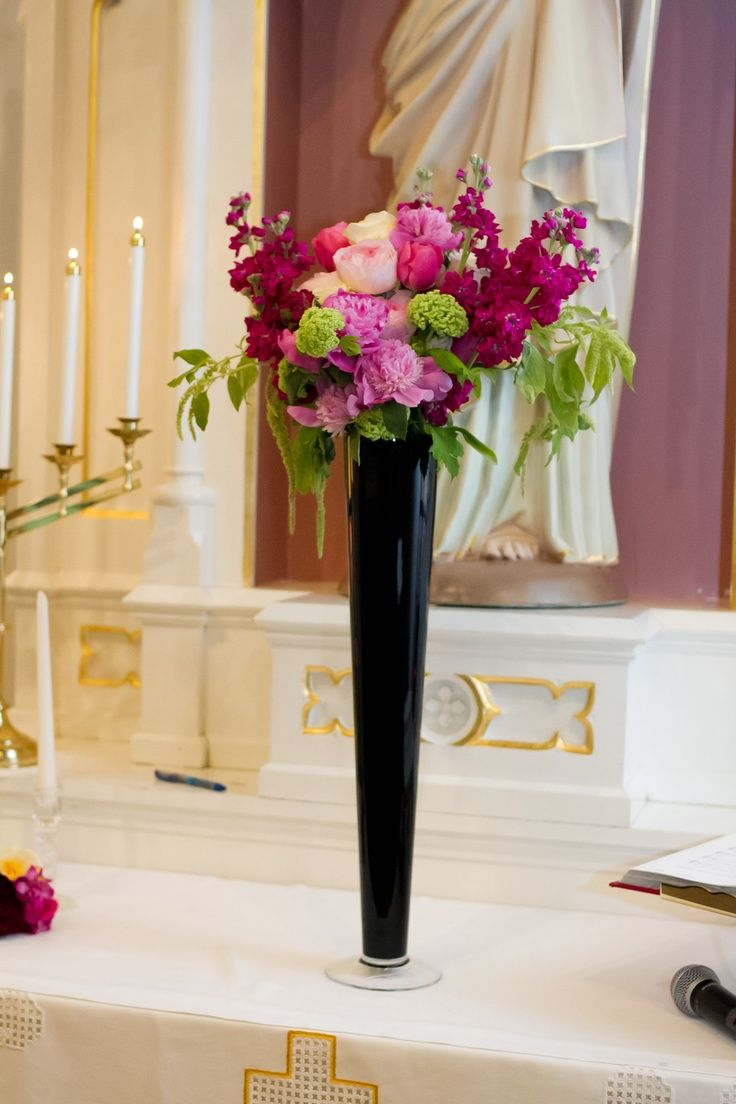 Best black glass vases images on pinterest