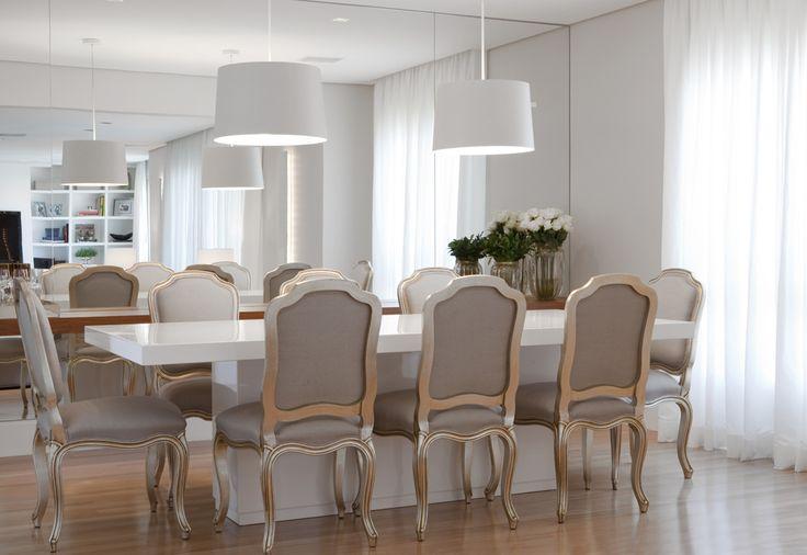 Decoração de - sala de jantar; mesa de jantar retangular; Casa de Valentina