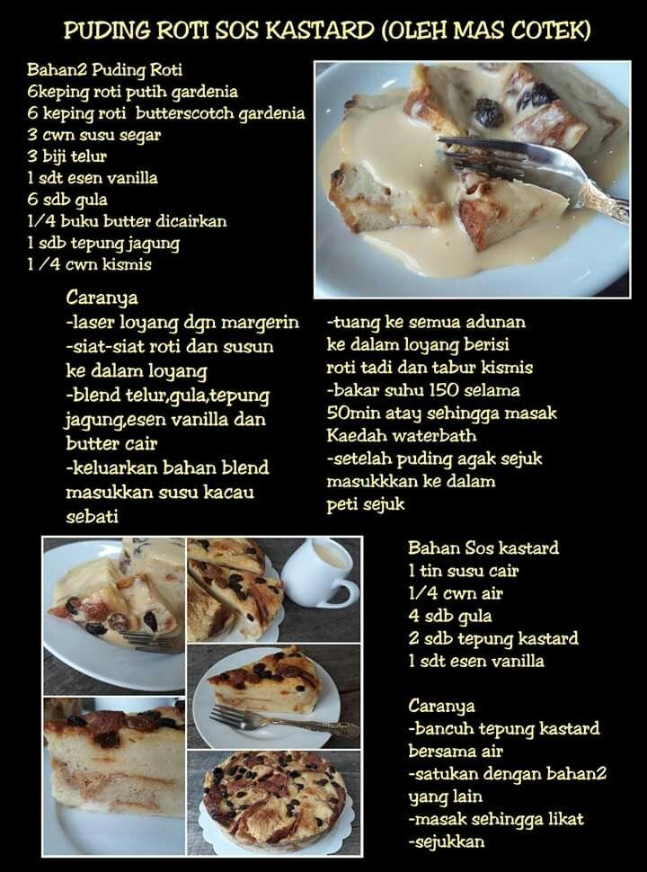 Puding Roti Sos Karemel Recipes Food Cooking Recipes