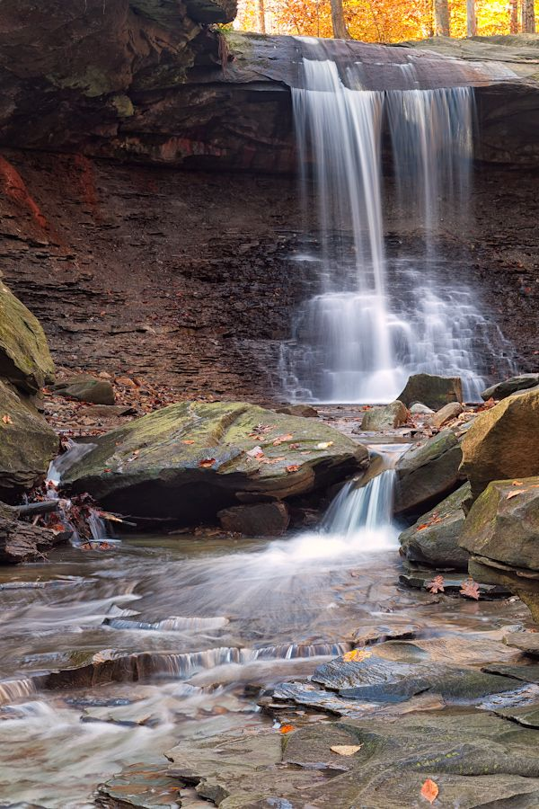 Blue Hen Falls at Cuyahoga Valley National Park (CVNRA), just a 20 minute drive from downtown.