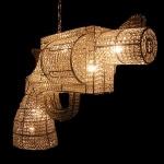 Gun by rockandroyal.comDecor, Guns Lights, Stuff, Trav'Lin Lights, Awesome, Guns Chandeliers, Bangs Bangs, House, Things