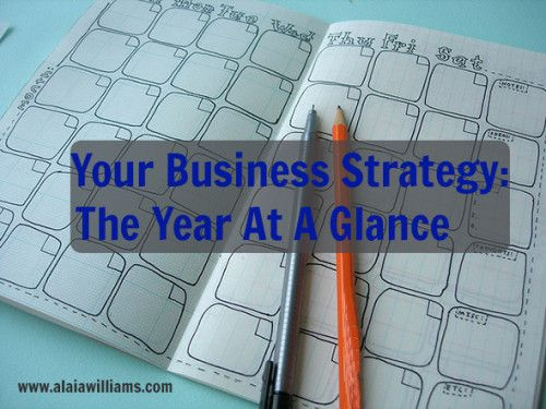Crafting Your Business Strategy: The Year at a Glance Crafting Your Business Strategy: The Year at a Glance http://alaiawilliams.com/2013/12/crafting-your-business-strategy-the-year-at-a-glance/