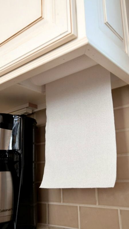 Under Cabinet Paper Towel Holder... Great Idea!