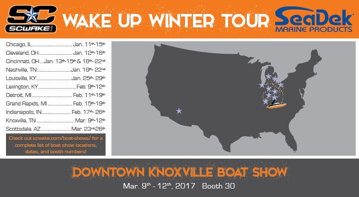 SC Wake at the Downtown Knoxville Boat Show | SeaDek Marine Products Blog – Swim Platform Pads