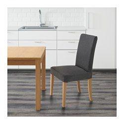 HENRIKSDAL Sedia, rovere, Dansbo grigio scuro - - - IKEA