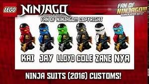 (NEW) - LEGO® Ninjago 2016 - ALL THE NINJA-SUITS!! - HD - (CONCEPT-IMAGES)