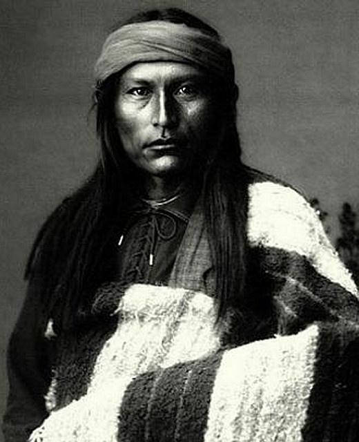 Chief Naiche, youngest son of Cochise, Chiricahua Apache.