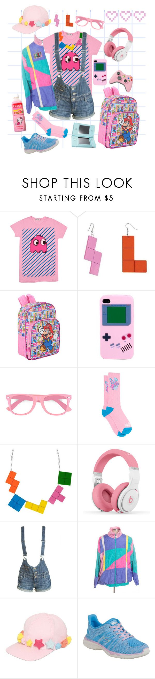 """💖game girl💖"" by jekaclover ❤ liked on Polyvore featuring Tatty Devine, Nintendo, fred flare, Any Old Iron, LIST, Nicki Minaj, Wet Seal, Francesco Ballestrazzi, Skechers and 80s"