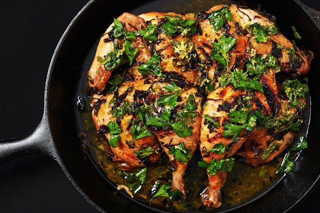 10 Super Simple Recipes For Our #TakeOutTakeout Challenge #refinery29  http://www.refinery29.com/easy-recipes-cooking-at-home#slide-6  Elettra: Split Roasted ChickenThis is the fastest way that I know of to roast a whole chicken. If you have leftover herbs after this, you can make this pasta (skip the rosemary though), whic...
