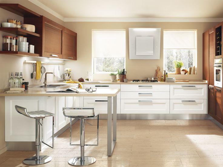 cucina con parete con doppia finestra georgia kitchens cucine lube