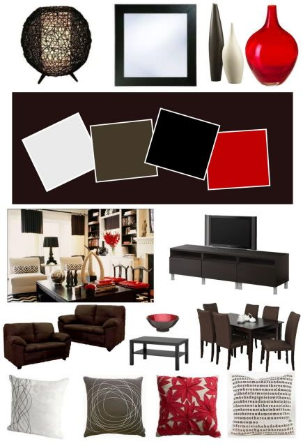 Google image result for - Chocolate brown and white living room ...