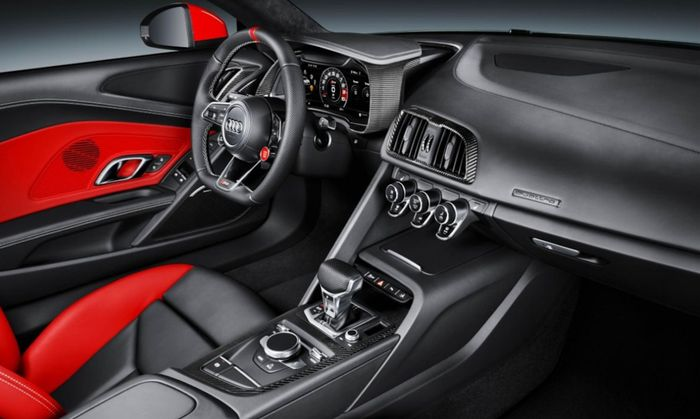 Audi R8 Audi Sport Edition Gives You the Red Side Blades You Never Asked For   Audi's latest special edition car is full of bright accents and Audi Sport logos.   The new Audi Sport performance division is mostly an exercise in rebrandingit's the new name for Audi's Quattro performance subsidiarybut we're okay with that if it means we get cool special editions like this new Audi Sport version of the R8. With several unique visual cues and a richly trimmed interior this extra-special R8 is an…