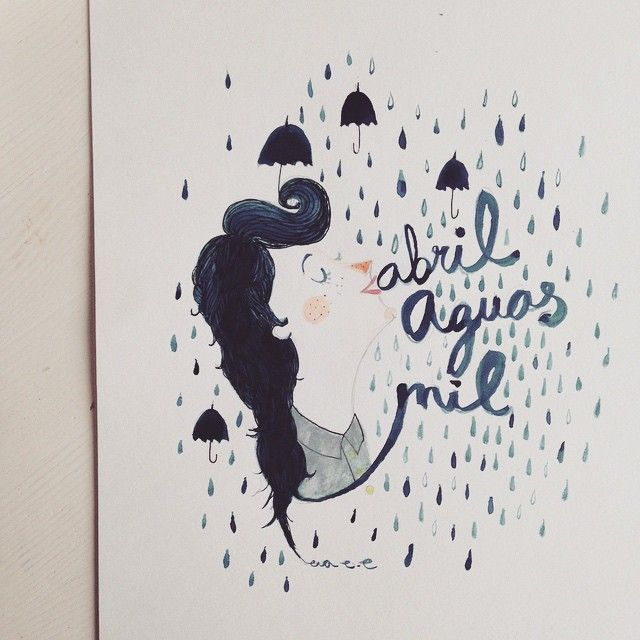 """Abril aguas mil"" Illustration by Eva Escoms Estarlich"