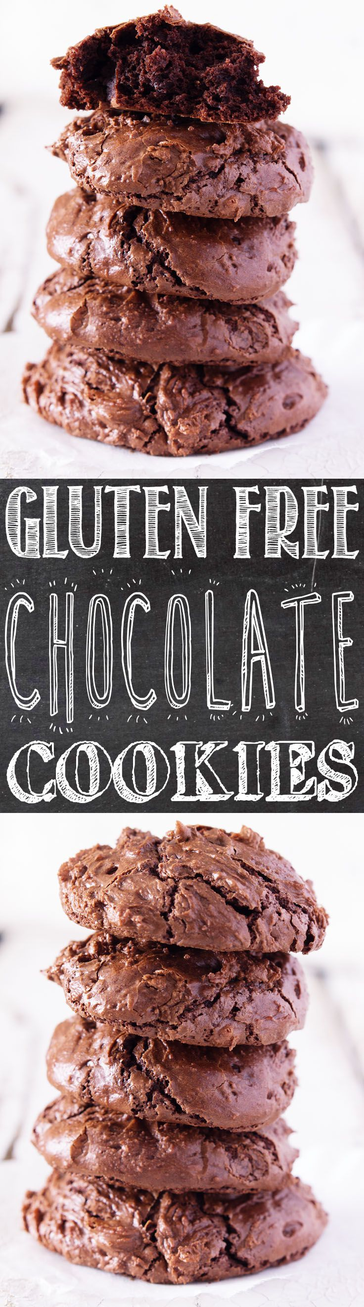 Flourless Chocolate Cookies -  these fudgey, chocolate, almost brownie like cookies were like a big hug. I did mention that they're gluten free, right?
