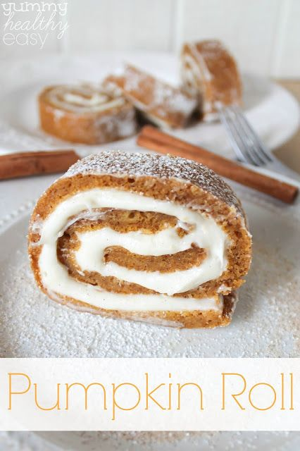 EASY Pumpkin Roll Dessert...It will look like it took you hours to make when it's really simple and easy!  This is a great make-ahead dessert and the perfect fall pumpkin dessert!