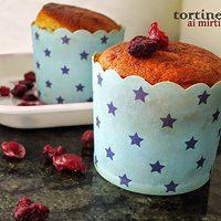 Muffin ai mirtilli rossi secchi