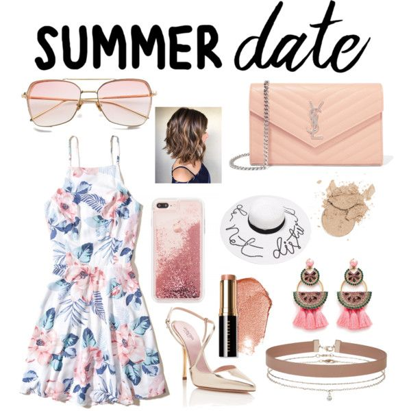 A fashion look from July 2017 by marielorelry featuring Hollister Co., Giambattista Valli, Yves Saint Laurent, Elizabeth Cole, Miss Selfridge and Bobbi Brown Co...