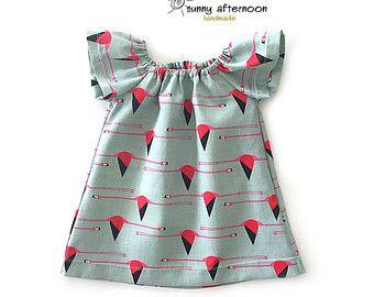 Meisjes jurk mosterd organische baby jurk organische dubbele