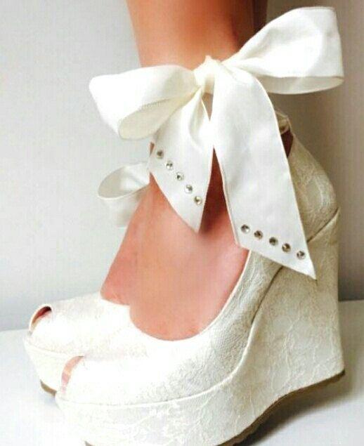 Boda zapatos de boda de novia cuña zapatos zapatos por KILIGDESIGN
