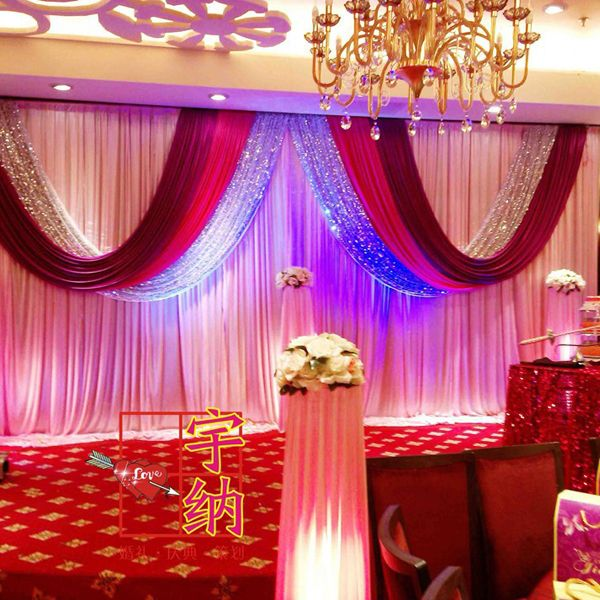 ==> [Free Shipping] Buy Best New 36m red silver sequin white wedding backdrop curtain set wedding stage decoration sparking wedding wall backdrop curtain Online with LOWEST Price | 32358913695