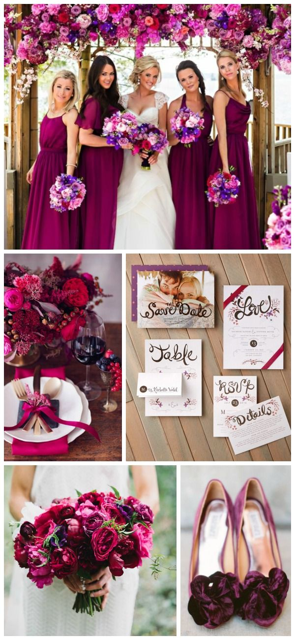 Berry and Jewel Tone Wedding Inspiration with invites from @weddingpaper