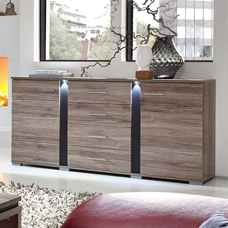 25+ parasta ideaa Pinterestissä Sideboard anthrazit - schrank für wohnzimmer