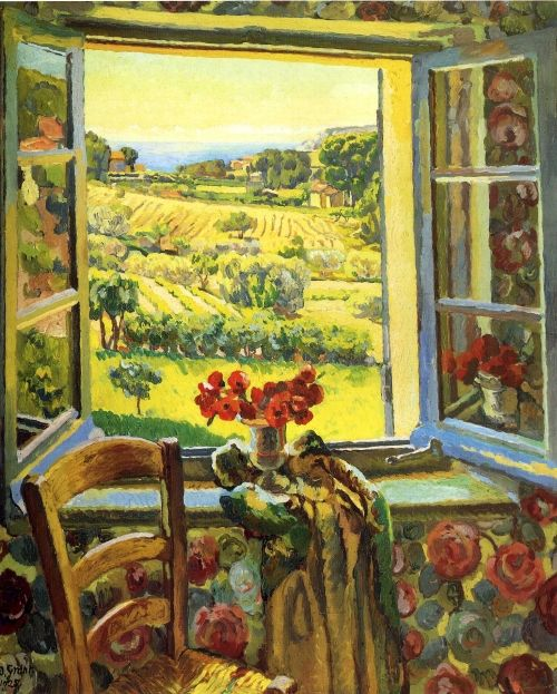 Window of south France, Duncan Grant. Scotish (1885 - 1978). Menber of The Bloomsbury Group