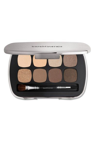 Free shipping and returns on bareMinerals® READY 8.0 The Bare Neutrals Eyeshadow Palette at Nordstrom.com. What it is: bareMinerals READY Eyeshadow provides vivid, pigment-packed color with seamless blendability that lasts for up to 12 hours.What it does: Each is powered by the brand's proprietary SeaNutritive Mineral Complex, which delivers skin-nourishing benefits, including reduced appearance of fine lines, wrinkles and puffiness.Shades include:- Serendipitous (delicate peach)- Satin C...