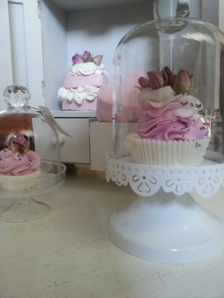 shabby chic cup cake saponi decorativi