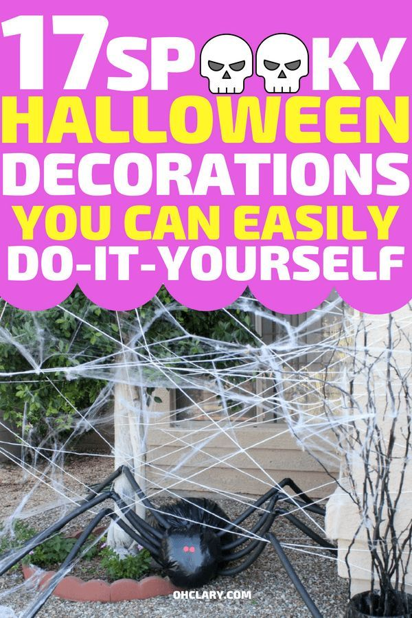 17 DIY Outdoor Halloween Decorations For The Creepiest Front Yard On - halloween design
