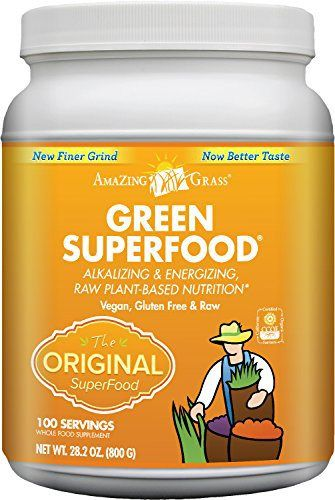 Amazing Grass Green SuperFood Original, 100 Servings, 28.2 Ounces - http://goodvibeorganics.com/amazing-grass-green-superfood-original-100-servings-28-2-ounces/