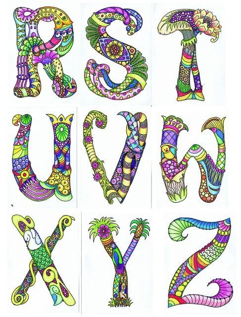 105 besten letras Bilder auf Pinterest   Mandalas, Alphabet ...