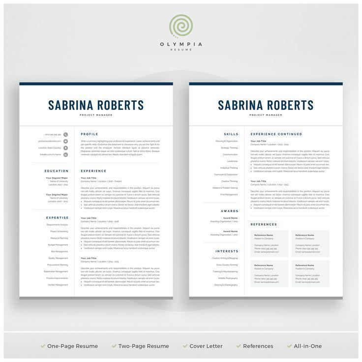 Resume Template Professional Resume Cv Template Modern Etsy Resume Template Word Resume Template Modern Resume Template