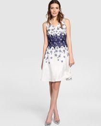 Vestido corto de mujer Fiesta El Corte Inglés con encaje