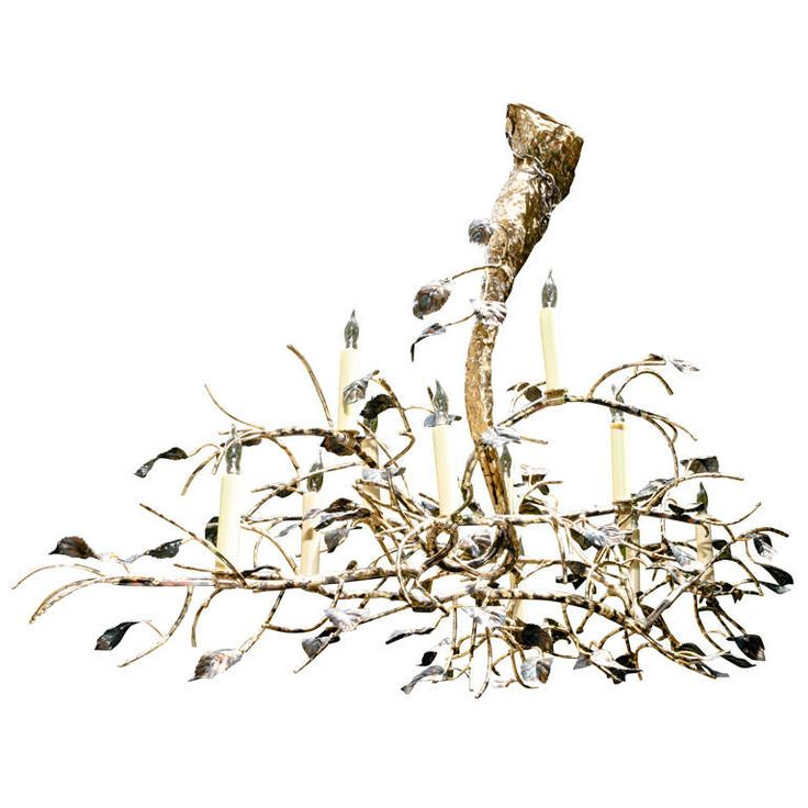 A Lou Blass Original Metal Sculpture Branch Chandelier | From a unique collection of antique and modern chandeliers and pendants at https://www.1stdibs.com/furniture/lighting/chandeliers-pendant-lights/