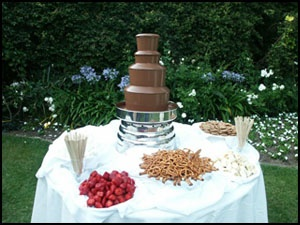 Yummy chocolate fountain!   Los Angeles CA Chocolate Fountain Rentals Los Angeles Chocolate Fountain Rental