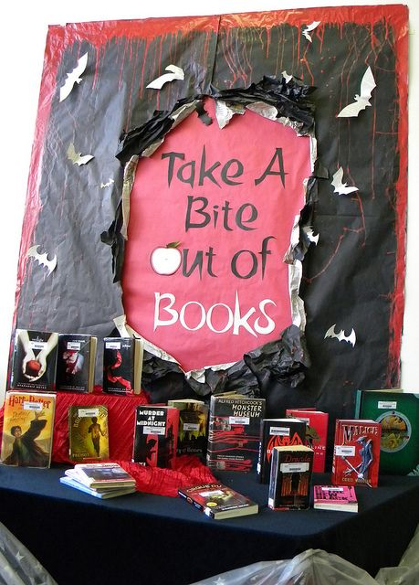 Flicker group with tons of library book display ideas.