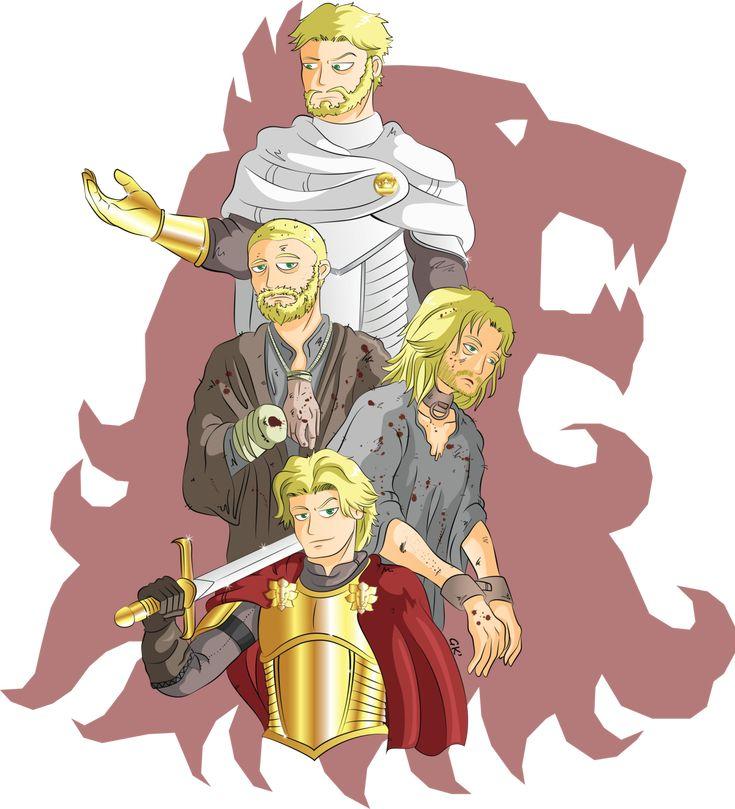 The evolution of Jaime Lannister.  http://gabkt.deviantart.com/art/ASOIAF-Jamie-Lannister-455791096?q=gallery%3AGabKT%2F6243512&qo=10