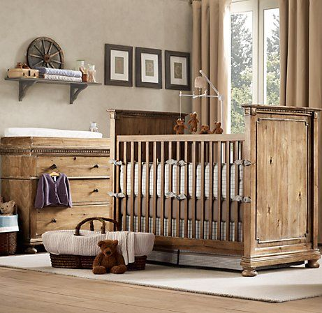 rustic crib furniture. love the color and style of furniture bedding rustic teddy leather chair bear mobile perfect little boyu0027s room crib